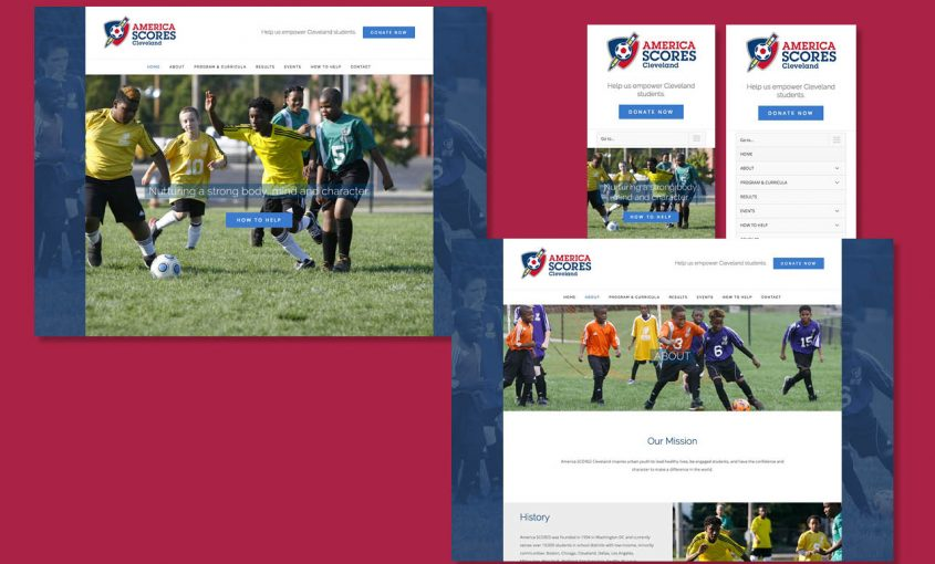 Executing a Website Redesign for Non-Profit America SCORES Cleveland