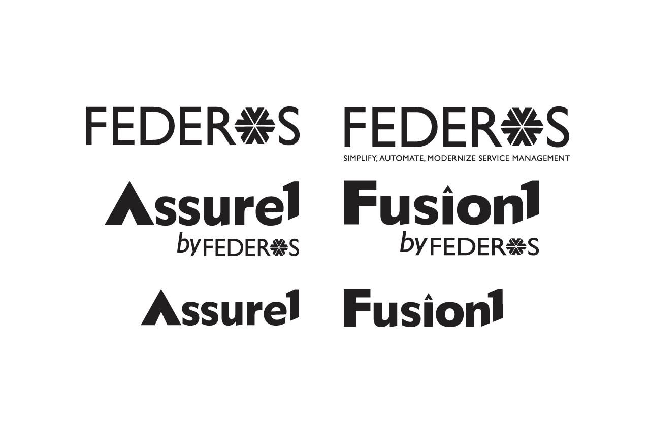 Rebranding Initiative for Federos & Assure 1 Tool, Logos in B&W