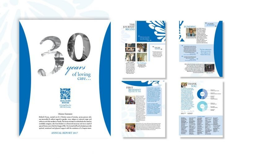 An Annual Report That Celebrates Non-Profit Malachi House's 30 Years of Service | Roop & Co.