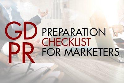 GDPR preparation checklist for marketers
