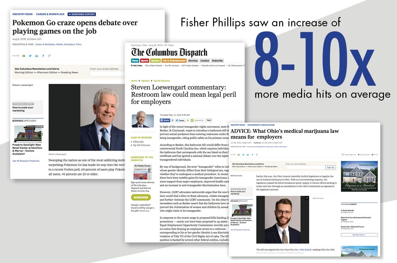 media relations strategy case study | Fisher Phillips employment law