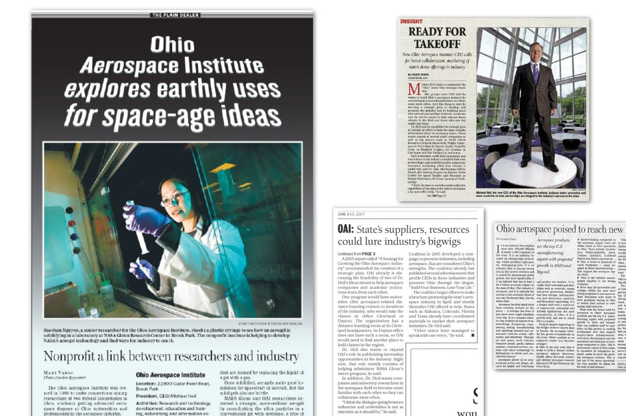 Executing Media Relations for the Ohio Aerospace Institute