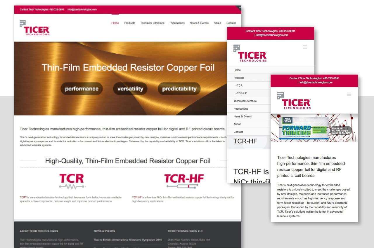 Developing a Mobile-Friendly Website for Ticer Technologies