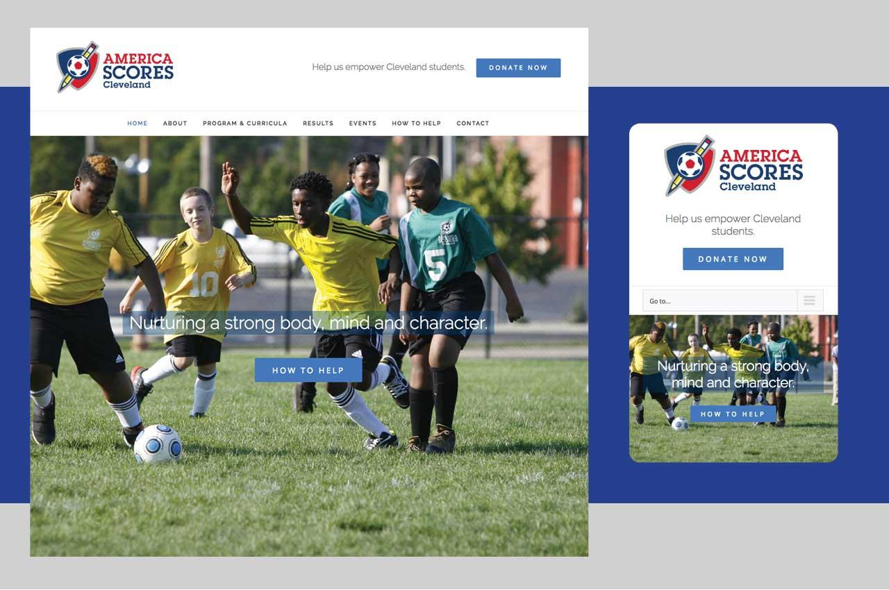website redesign case study | America SCORES Cleveland non-profit