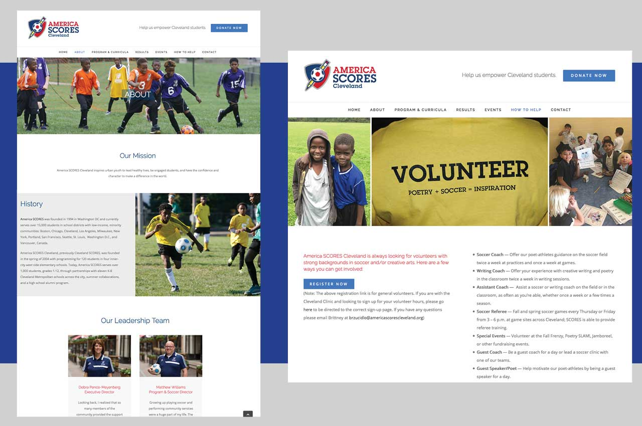 website redesign case study | SEO, content management system, non-profit