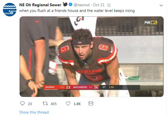 Northeast Ohio Regional Sewer Browns Tweet Joke