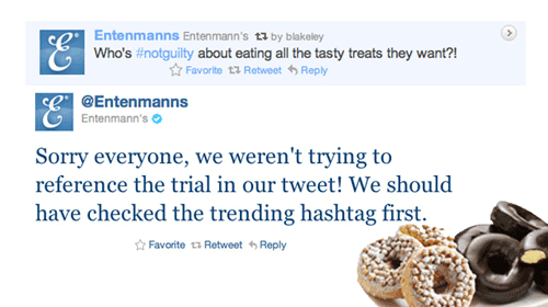 Entenmann's #NotGuilty Tweet Communications Crisis